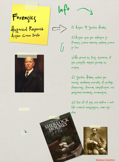 Forensics: Historical Research Assignment, Arthur Conan Doyle