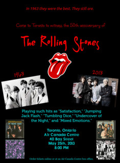 The Rolling Stones Promotional Poster