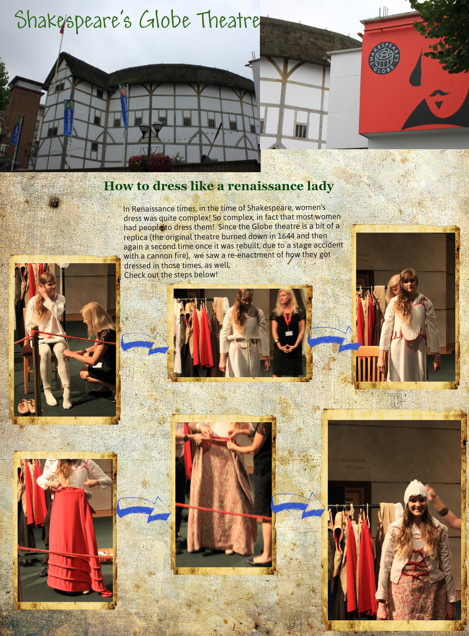 Shakespeare's Globe Theatre: How To Dress Like a Renaissance Lady