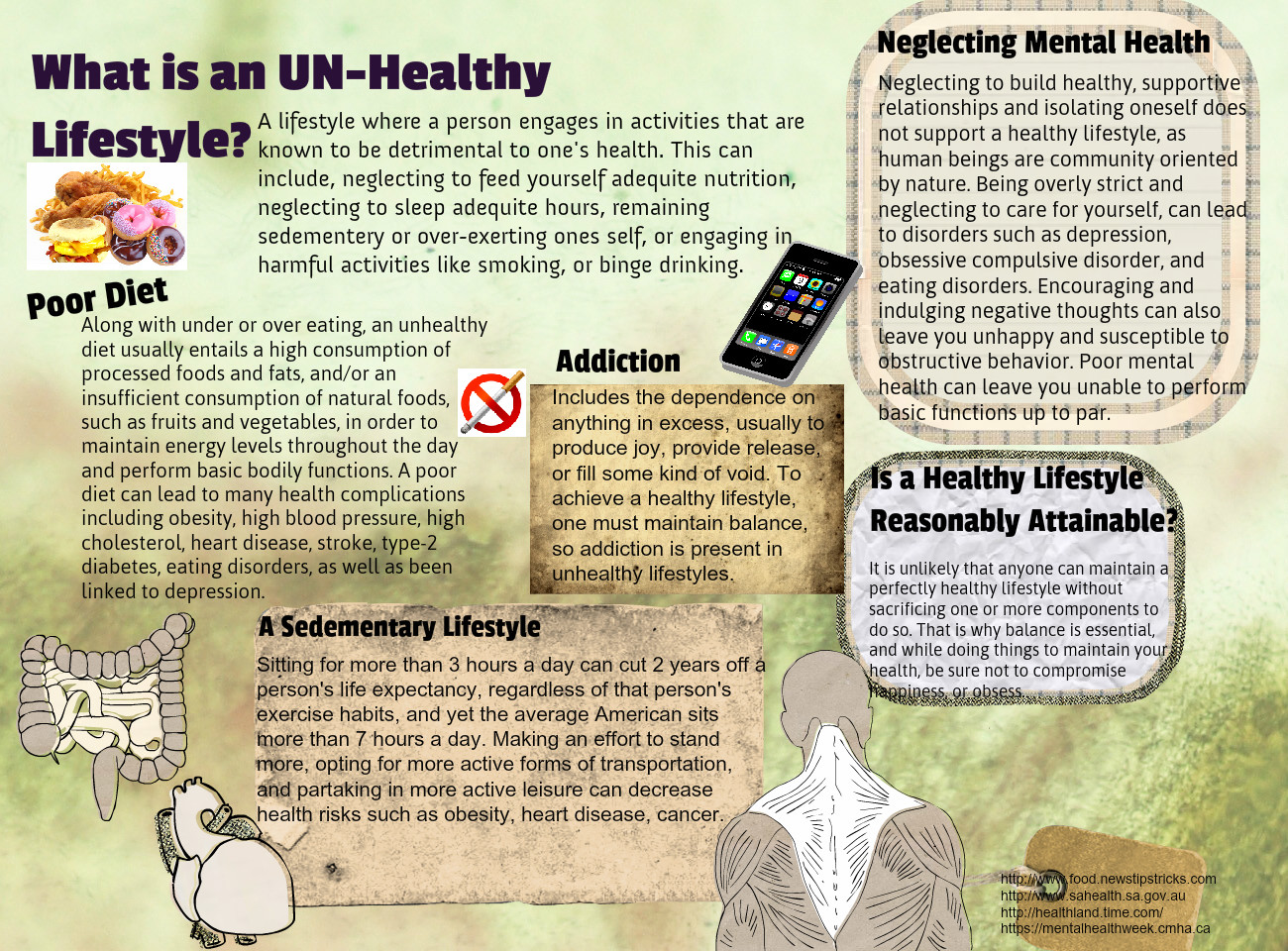 What is an UN-Healthy Lifestyle