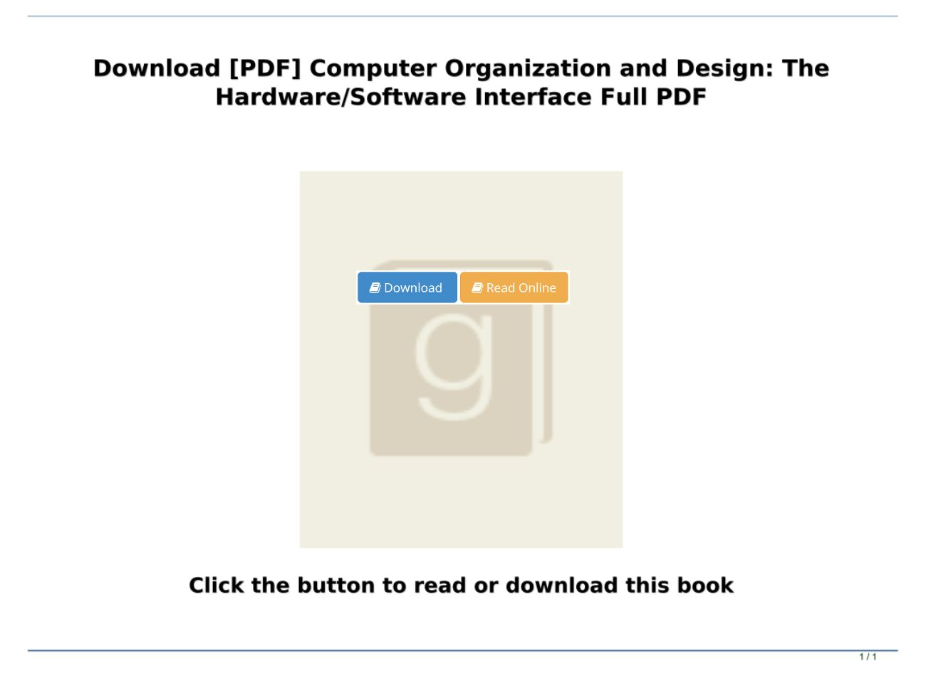 Download Pdf Computer Organization And Design The Hardware Software Interface Full Pdf Text Images Music Video Glogster Edu Interactive Multimedia Posters