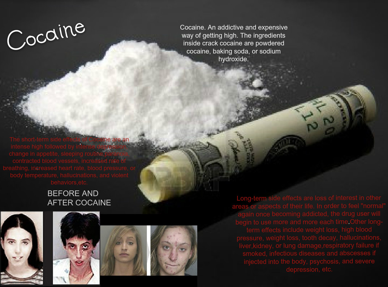 Cocaine: after, alcohol, and, awareness, before, cocaine