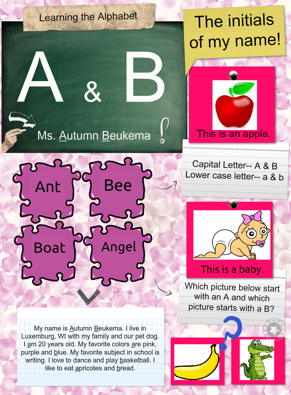 The Letters A & B: text, images, music, video | Glogster EDU ...