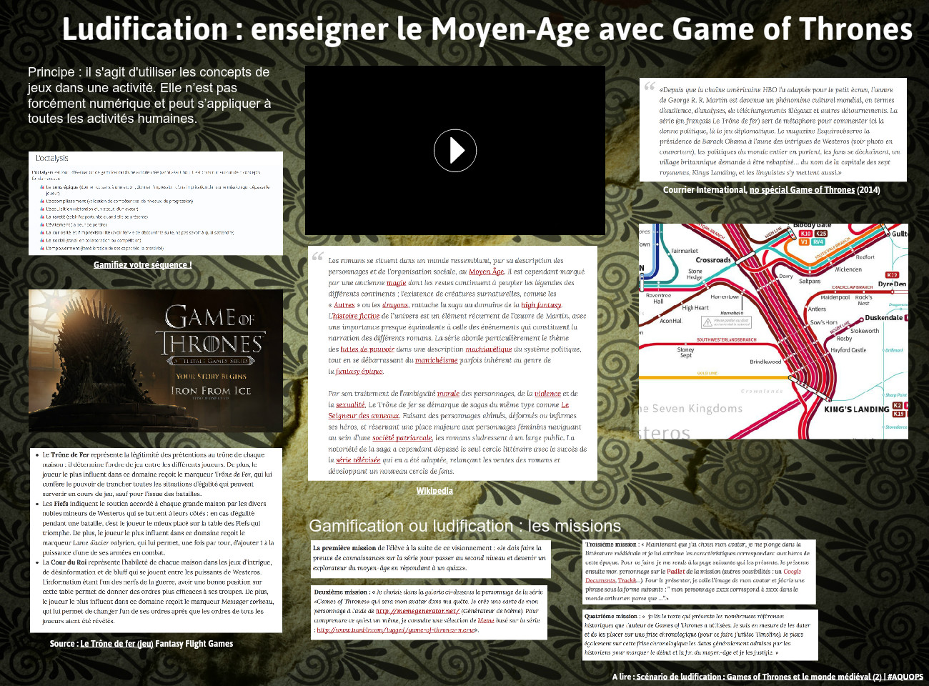 Ludification : enseigner le moyen-âge avec Games of Thrones