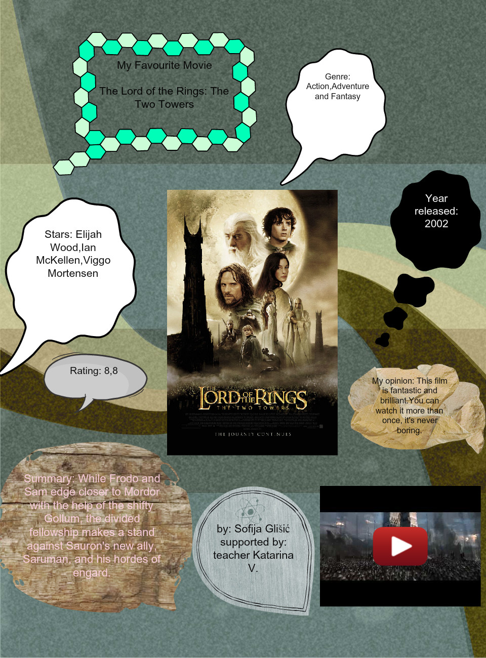My Favourite Movie:The Lord of the Rings: The Two Towers by Sofija Glisic