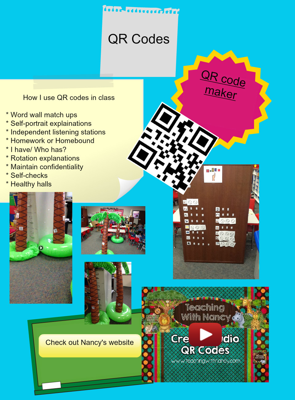 QR codes: text, images, music, video | Glogster EDU - Interactive ...