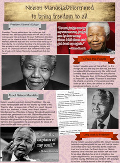 Nelson Mandela: Determined to bring freedom to all