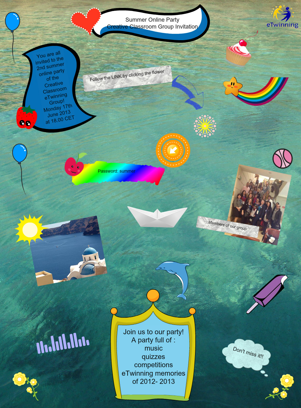 2nd summer online creative classroom party