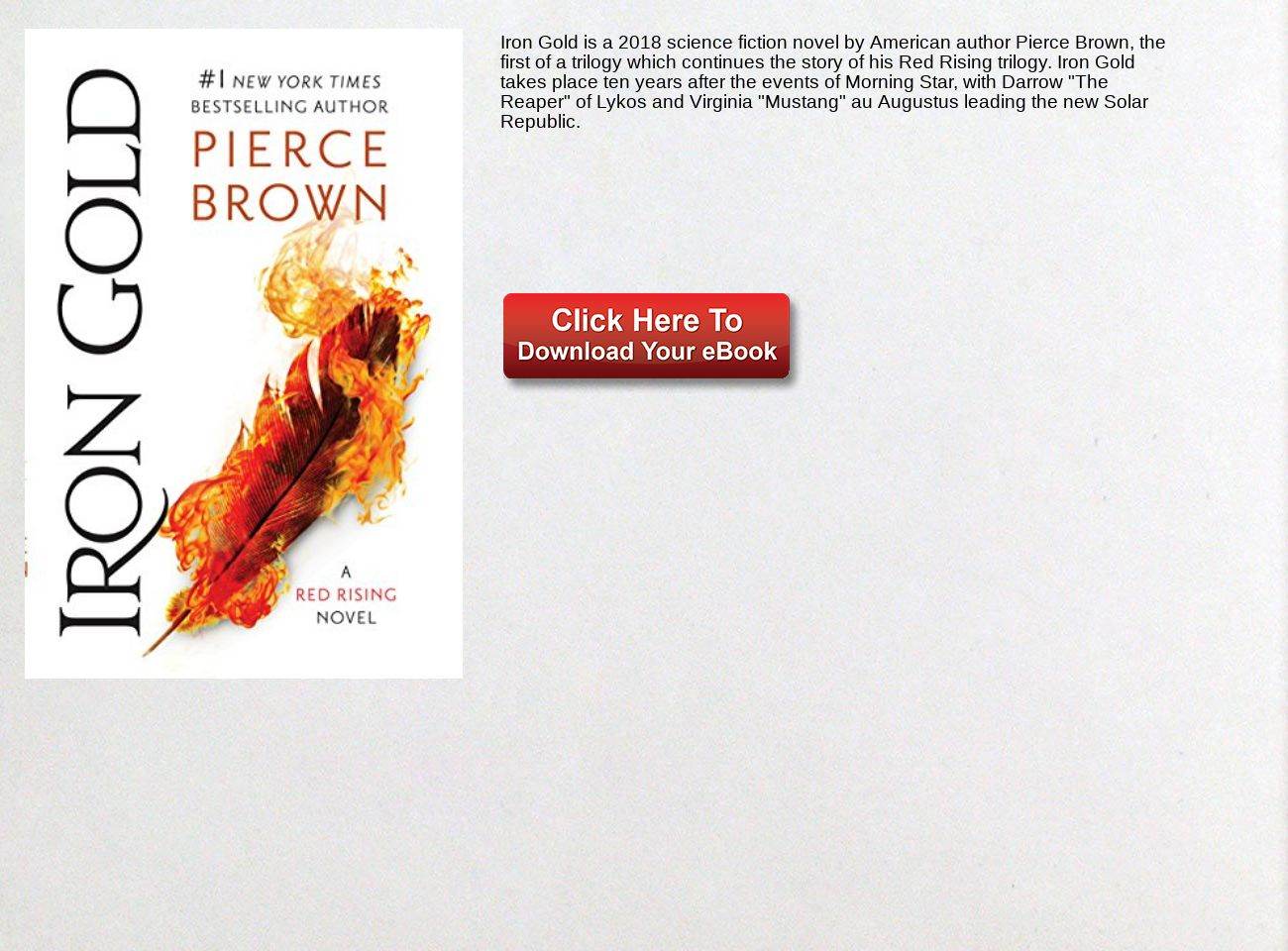 download free Iron Gold: Book 4 of the Red Rising Saga (Red