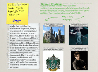 Book Report Glogster Harry Potter and the Chamber of Secrets