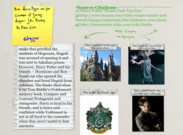 Book Report Glogster Harry Potter and the Chamber of Secrets's thumbnail