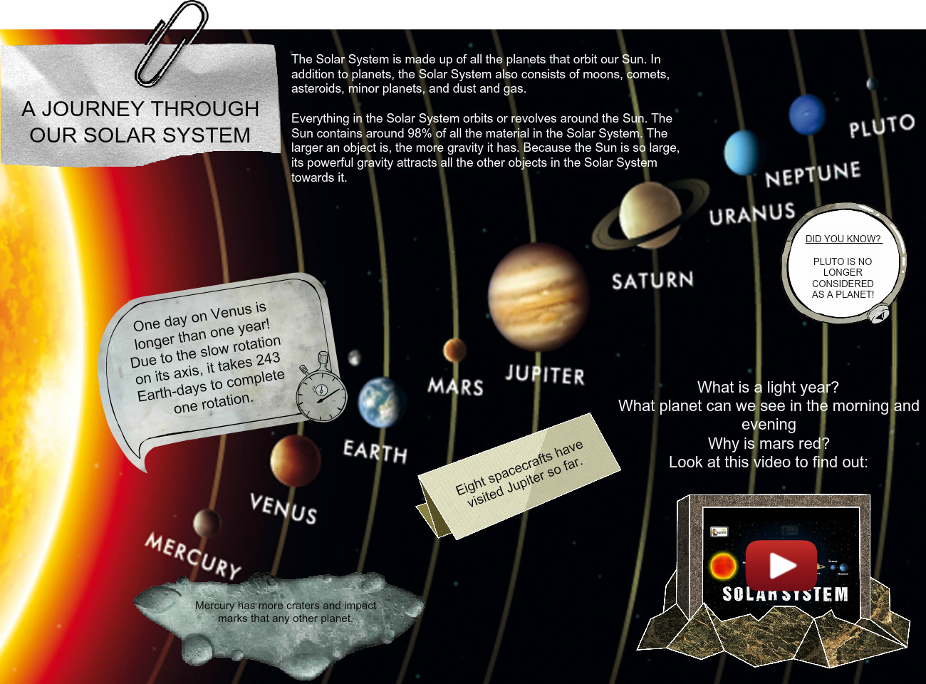 A Journey Through Our Solar System