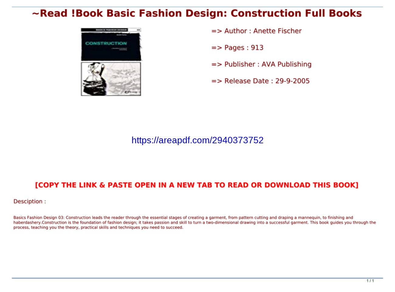 Read Book Basic Fashion Design Construction Full Books Text Images Music Video Glogster Edu Interactive Multimedia Posters