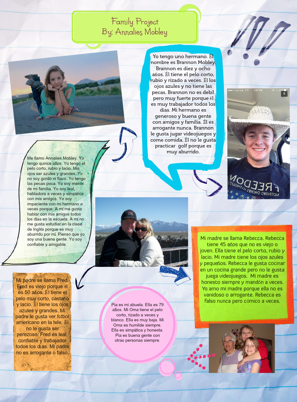 Spanish 2-Family Project