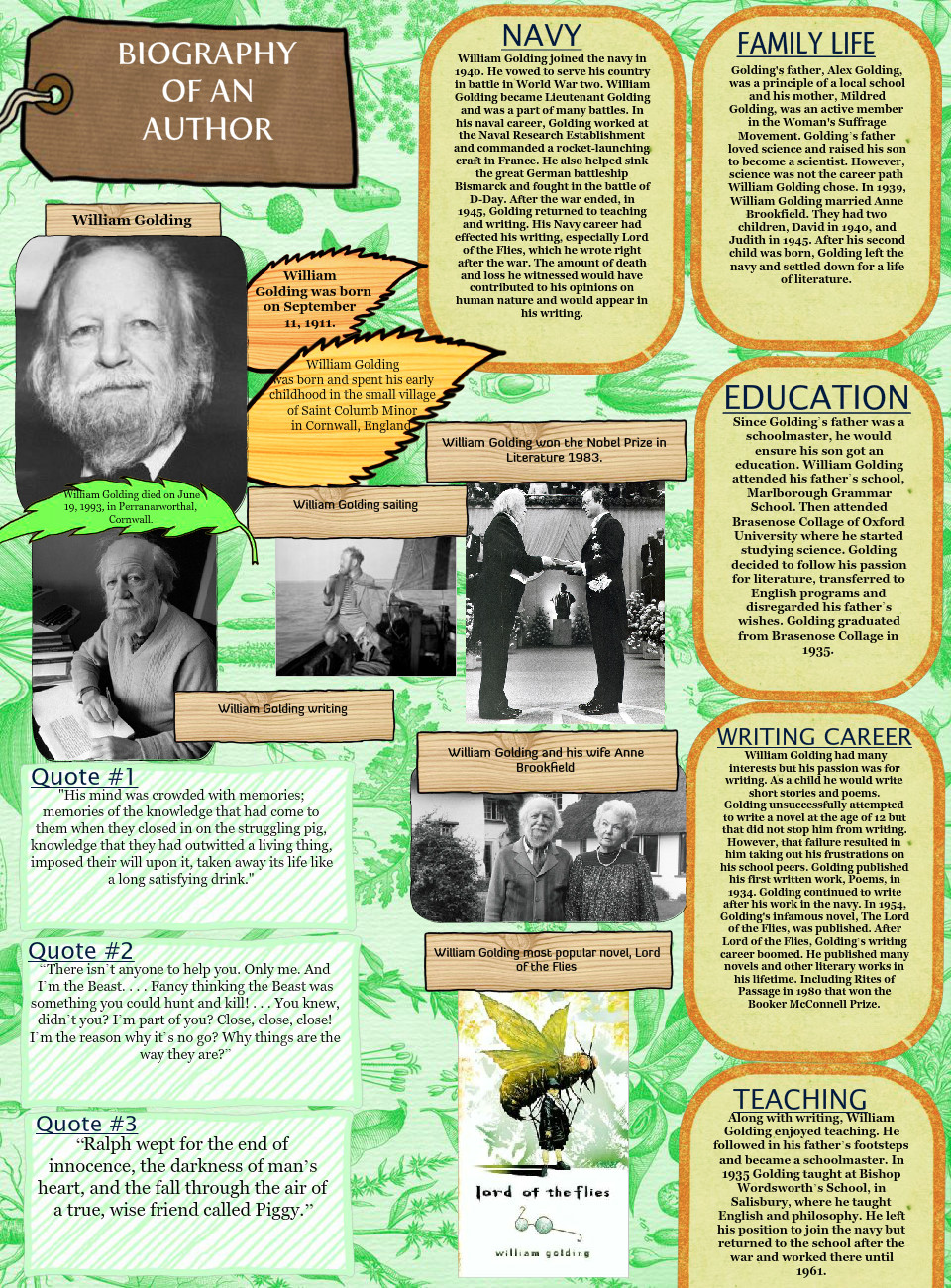 Biography Of William Golding