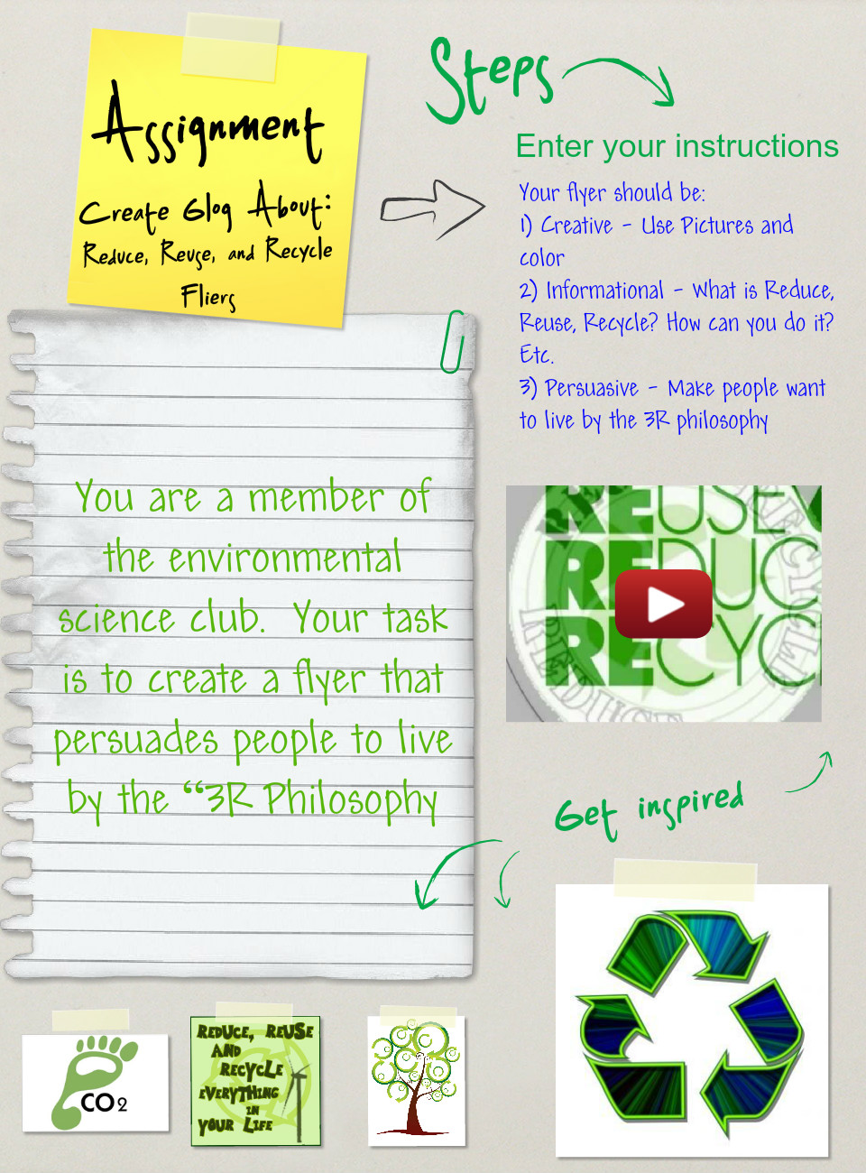 Reduce, Reuse, and Recycle Flyers