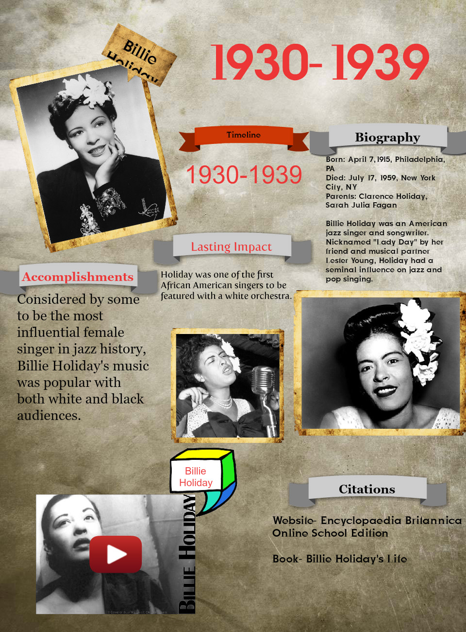 Billie Holiday-1930-1939